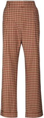 Wales Bonner Brixton high-waist check trousers
