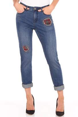 FDJ French Dressing Flannel Patchwork Jeans