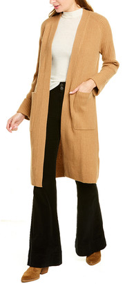 Revive Cashmere Ribbed Wool & Cashmere-Blend Midi Cardigan