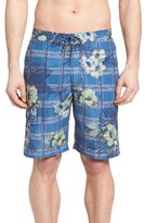Tommy Bahama Men's Baja House Of Plaid Print Board Shorts