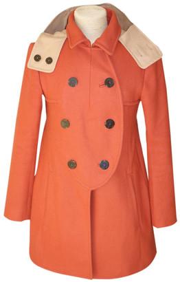 Carven Orange Wool Coats
