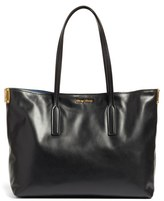 Miu Miu Large Calfskin Leather Shopper - Ivory