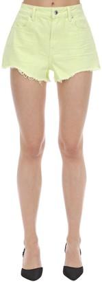 Alexander Wang Fluo Cotton Denim Shorts