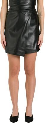 Nanushka Sekoya Wrap Around Miniskirt