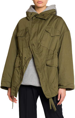 Balenciaga Military-Style Oversized Swing Jacket