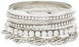 Charlotte Russe Etched & Embellished Bangle Bracelets
