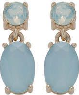 Amorette Turquoise Oval Round Drop Earring
