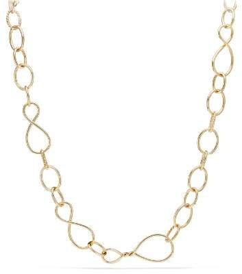 David Yurman Continuance Large Chain Necklace in 18K Yellow Gold