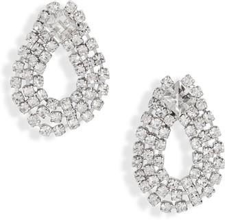 CRISTABELLE Open Crystal Teardrop Earrings