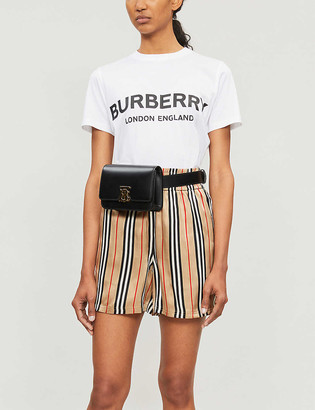 Burberry Logo-print fitted cotton T-shirt