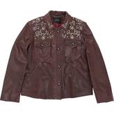 Isabel Marant Burgundy Leather Biker jacket