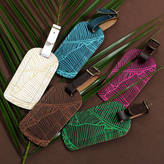 Undercover Tropical Leather Luggage Tag