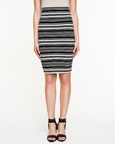 Le Château Stripe Ponte High Waist Skirt