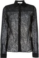 See by Chloe leopard effect sheer shirt