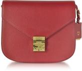 MCM Patricia Park Avenue Medium Burgundy Leather Shoulder Bag