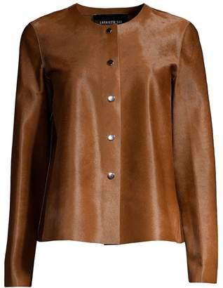 Lafayette 148 New York Leo Collarless Calf Hair Jacket