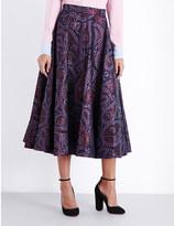 Roksanda High-waist brocade skirt