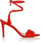 Loeffler Randall Women's Elyse Ankle-Tie Sandals-RED
