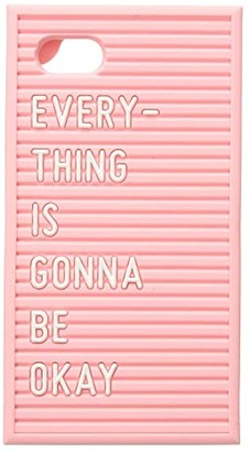 ban.do Silicone Letter Board iPhone 7/8 Case (Pink) Handbags
