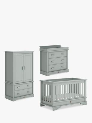 Boori Eton Convertible Plus Cotbed, Wardrobe & Dresser Three Piece Set, Pebble Grey