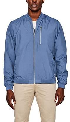 Esprit edc by Men's 077cc2g003 Bomber Jacket, Grey Blue 420, Medium