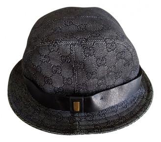 Gucci Grey Cloth Hats