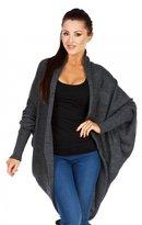 Zeta Ville Fashion Zeta Ville - Womens Shawl Collar Knit Long Dolman Cardigan Open front - 437z