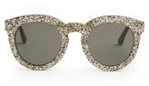 Saint Laurent Round-frame glitter sunglasses