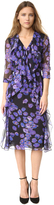 Jason Wu Floral Chiffon Long Sleeve Dress