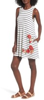 Socialite Women's Floral Applique Tank Dress