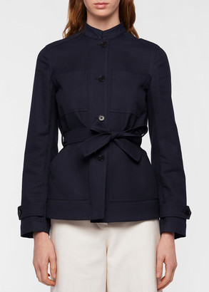 Paul Smith Women's Navy Cotton And Wool-Blend Field Jacket With Belt