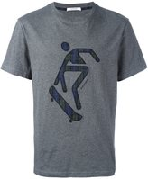 Carven plaid applique T-shirt - men - Cotton - M