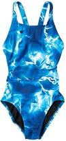 Nike Lightening Fast Back One-Piece (Little Kids/Big Kids) (Court Purple) Girl's Swimsuits One Piece