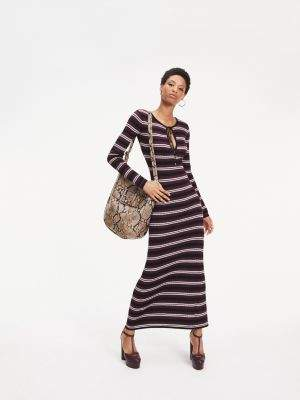 Tommy Hilfiger Zendaya Metallic Knit Maxi Dress