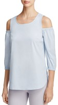 Design History Cold Shoulder Poplin Top