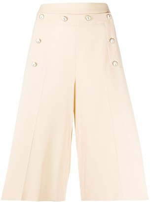 VIVETTA High-Waisted Buttoned Shorts