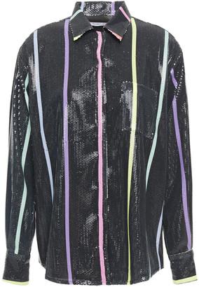 Olivia Rubin Iris Sequined Printed Georgette Shirt