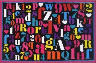 "Zoomie Kids Corina Alphabet Area Rug Rug Size: 3'3"" x 4'10"""