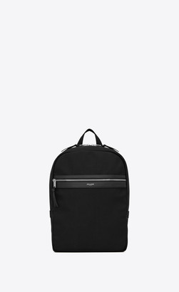 Saint Laurent Backpack Laptop City Backpack In Canvas Black Onesize