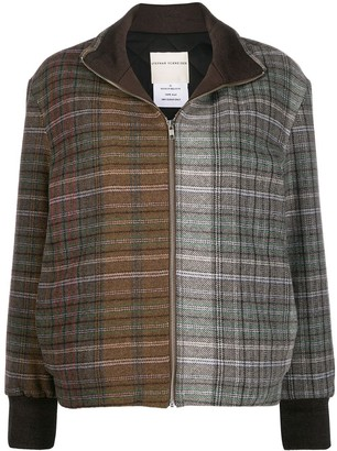 Stephan Schneider Contrast Plaid Bomber Jacket