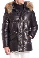 Bally Fur-Trimmed Leather Puffer Jacket