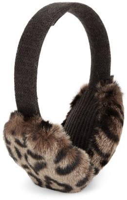 Portolano Leopard Faux Fur Earmuffs