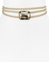 Aqua January Triple Braid Stone Choker Necklace, 12 - 100% Exclusive