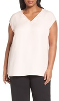 Lafayette 148 New York Plus Size Women's Bryson Silk Blouse