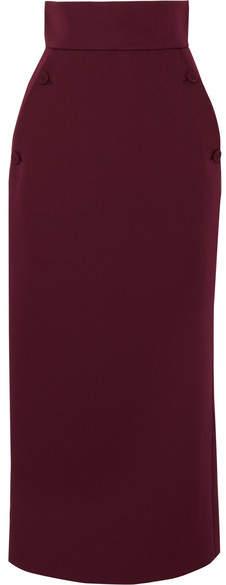 Sara Battaglia Cady Pencil Skirt - Burgundy