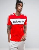 adidas London Pack Block T-Shirt In Red Bk7783