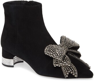 Jeffrey Campbell Luci Embellished Bow Bootie