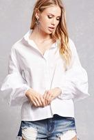 Forever 21 Poplin Lantern-Sleeve Shirt