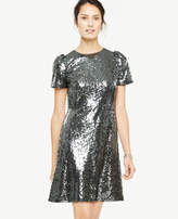 Ann Taylor Tall Sequin Sheath Dress