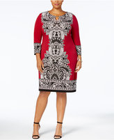 JM Collection Plus Size Paisley-Print Sheath Dress, Created for Macy's
